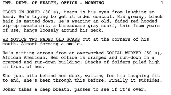 descripcion en Joker